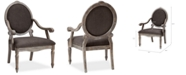 Madison Park Rory Fabric Oval Back Accent Chair, Quick Ship