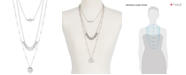 Lucky Brand Silver-Tone White Cabochon Layer Necklace