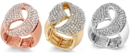 INC International Concepts I.N.C. Rose Gold-Tone Crystal Dome Stretch Ring, Created for Macy's