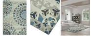 """D Style CLOSEOUT! Menagerie MEN567 Ivory 4'11"""" x 7'5"""" Area Rug"""