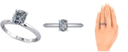 Macy's Knife Edged Solitaire Mount Setting in 14k White Gold