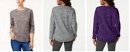 Karen Scott Sport Space-Dye Microfleece Top, Created for Macy's