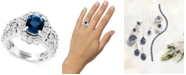 EFFY Collection EFFY® Sapphire (1-9/10 ct. t.w.) & Diamond (1/2 ct. t.w.) Ring in 14k White Gold