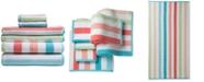 Caro Home Karissa Cotton 6-Pc. Textured-Stripe Bath Towel Set