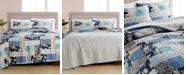 Martha Stewart Collection CLOSEOUT! Contrast Patchwork Cotton Reversible Quilt and Sham Collection, Created for Macy's