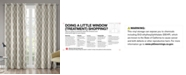 SunSmart Blakesly Textured Ogee Ikat-Print Blackout Window Panels