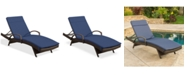 Furniture St. Thomas Outdoor Chaise Lounge, Quick Ship