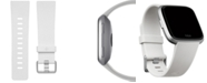 Fitbit Versa™ White Elastomer Classic Accessory Band