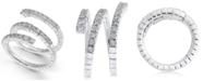 Macy's Diamond Triple Row Coil Ring (7/8 ct. t.w.) in 14k White Gold