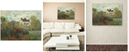 "Trademark Global Claude Monet 'The Artist's Garden In Argenteuil' Large Canvas Wall Art, 35"" x 47"""