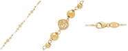 Macy's Polished Bead Chain Bracelet in 14k Gold