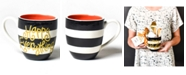 Coton Colors Happy Everything by Laura Johnson Collection Black Stripe Mug