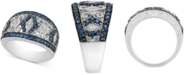 Macy's Sapphire (1-1/10 ct. t.w.) & Diamond Accent Filigree Band in Sterling Silver (Also Available in Ruby)
