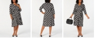 Charter Club Plus Size Plaid V-Neck Dress, Created for Macy's