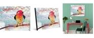 "Creative Gallery Crimson Chikadee Bird 20"" X 24"" Acrylic Wall Art Print"