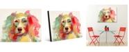 "Creative Gallery Colorful Liberace Watercolor Dog 24"" X 36"" Acrylic Wall Art Print"