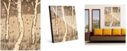 "Creative Gallery Neutral Aspen Trees 20"" X 24"" Acrylic Wall Art Print"