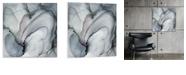 "Artissimo Designs Puff Gray Printed Acrylic Canvas Art - 30"" W x 30"" H x 0.75"" D"