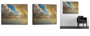 """Artissimo Designs Rain Clouds Over Framed Coated Embellished Canvas Art - 45.875"""" W x 35.875"""" H x 2"""" D"""