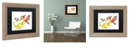 "Trademark Global Jennifer Nilsson Cheerful - Dragon 10 Matted Framed Art - 11"" x 11"" x 0.5"""