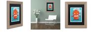 "Trademark Global Craig Snodgrass 'Retro Robot Orange' Matted Framed Art, 11"" x 14"""