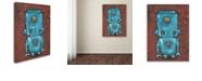 """Trademark Global Craig Snodgrass 'Wee-Bot-Blue' Canvas Art, 18"""" x 24"""""""