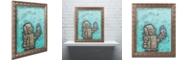 """Trademark Global Craig Snodgrass 'Weebot-Bird' Ornate Framed Art, 16"""" x 20"""""""