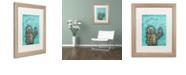 """Trademark Global Craig Snodgrass 'Weebot-Bird' Matted Framed Art, 16"""" x 20"""""""