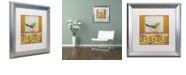 """Trademark Global Rachel Paxton 'Small Bird 241' Matted Framed Art, 16"""" x 16"""""""