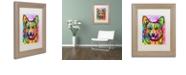 "Trademark Global Dean Russo 'Corgi II' Matted Framed Art, 11"" x 14"""