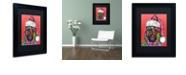 "Trademark Global Dean Russo 'Christmas Dog' Matted Framed Art, 11"" x 14"""