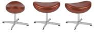 Flash Furniture Copper Leather Ottoman