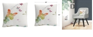 """Baldwin Butterfly Expression Abstract Modern 16x16"""" Decorative Throw Pillow by Sheila Golden"""