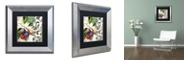 "Trademark Global Color Bakery 'Les Fruits Jardin Iii' Matted Framed Art, 11"" x 11"""