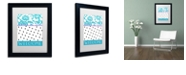 "Trademark Global Color Bakery 'Teal Dots' Matted Framed Art, 11"" x 14"""
