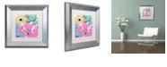"Trademark Global Color Bakery 'French Poodle I' Matted Framed Art, 11"" x 11"""