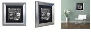 "Trademark Global Color Bakery 'Lake House Iii' Matted Framed Art, 11"" x 11"""