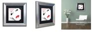 "Trademark Global Color Bakery 'Femme Den I' Matted Framed Art, 11"" x 11"""