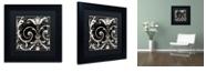 "Trademark Global Color Bakery 'Stylesque Ii' Matted Framed Art, 11"" x 11"""