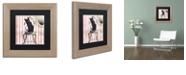 "Trademark Global Color Bakery 'Bad Cat I' Matted Framed Art, 11"" x 11"""