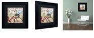 "Trademark Global Color Bakery 'Postale Paris Ii' Matted Framed Art, 11"" x 11"""