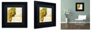 "Trademark Global Color Bakery 'Cafe D?Or Iii' Matted Framed Art, 11"" x 11"""