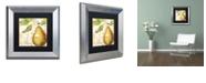 """Trademark Global Color Bakery 'Cafe D?Or Vi' Matted Framed Art, 11"""" x 11"""""""