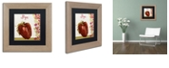 "Trademark Global Color Bakery 'Cucina Italiana Vii' Matted Framed Art, 11"" x 11"""