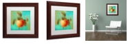 """Trademark Global Color Bakery 'Glowing Fruits Iii' Matted Framed Art, 11"""" x 11"""""""
