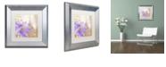 "Trademark Global Color Bakery 'Purple Paris Ii' Matted Framed Art, 11"" x 11"""