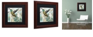 "Trademark Global Color Bakery 'Hummingbird Batik Ii' Matted Framed Art, 11"" x 11"""