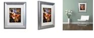 "Trademark Global Color Bakery 'Art Nouveau Zodiac Leo' Matted Framed Art, 11"" x 14"""