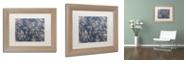 "Trademark Global Color Bakery 'Toile Fabrics Ii' Matted Framed Art, 11"" x 14"""