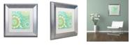 "Trademark Global Color Bakery 'Hope Ii' Matted Framed Art, 11"" x 11"""